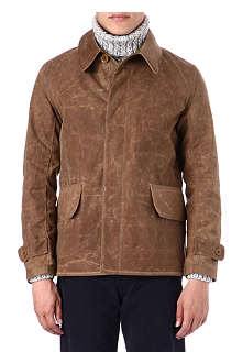 BARBOUR Barra waxed-cotton jacket