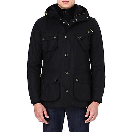 BARBOUR Fog waxed parka jacket (Black