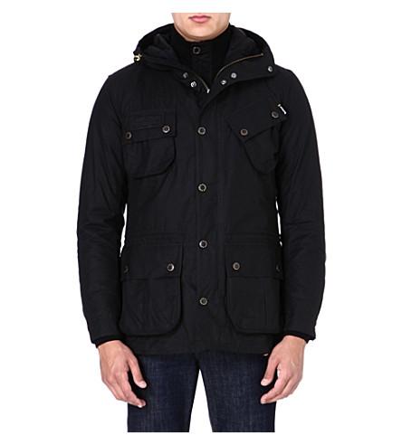BARBOUR Fog waxed parka jacket (Black