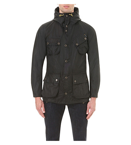 BARBOUR International waxed-cotton jacket (Black