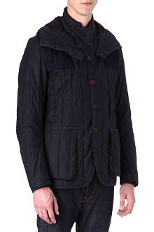 BARBOUR Dragh 4oz wool patch waxed-cotton jacket