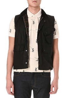BARBOUR Waxed-cotton gilet
