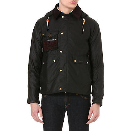 BARBOUR Standen waxed fishing jacket (Olive