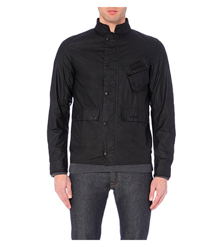 BARBOUR Ouston waxed jacket (Black