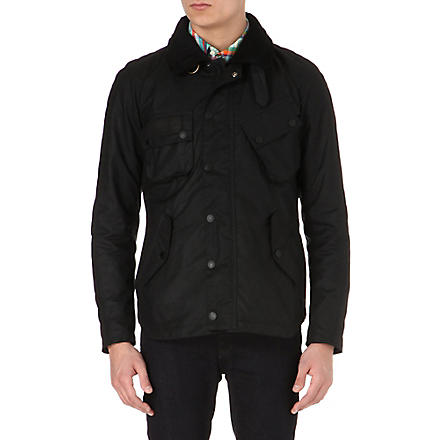 BARBOUR Pelton waxed-cotton jacket (Black