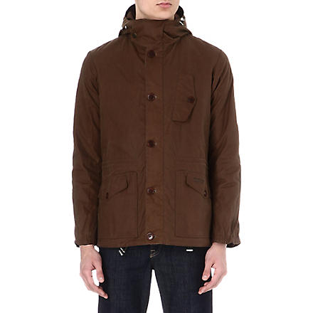 BARBOUR Waxed parka jacket (Bark