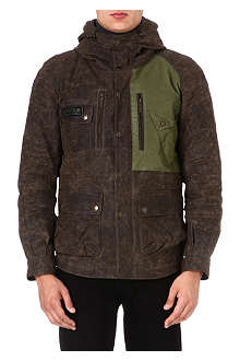 BARBOUR Reflective waxed-cotton jacket