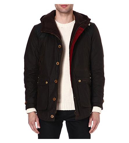 BARBOUR Waxed hunting game parka (Olive