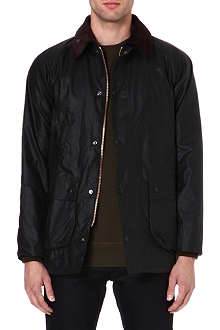 BARBOUR Slim-fit Bedale waxed-cotton jacket