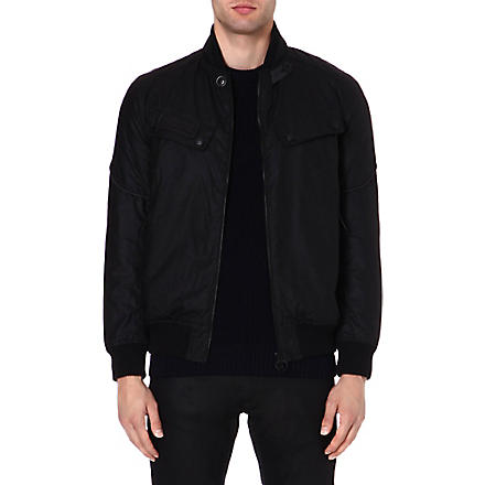 BARBOUR Tonal logo bomber jacket (Black