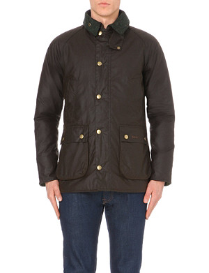 BARBOUR Slim Beadle waxed-cotton jacket