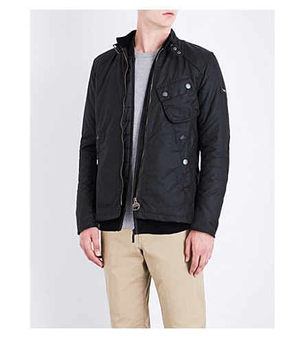 BARBOUR Legion waxed-cotton jacket (Black