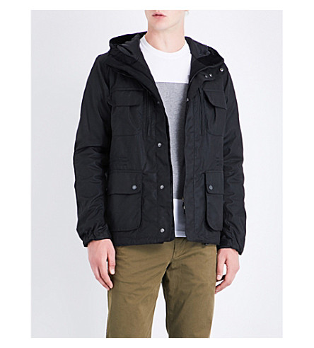 BARBOUR Delta waxed-cotton jacket (Black+gun