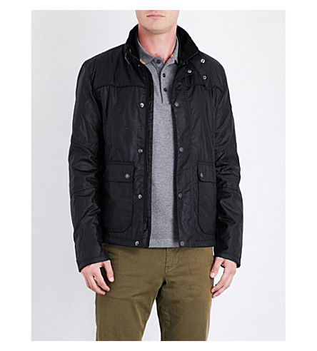 BARBOUR Inlet waxed-cotton jacket (Black