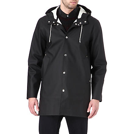 STUTTERHEIM Mid-length black raincoat (Black
