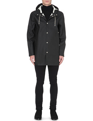 STUTTERHEIM Exposed popper waterproof Stockholm raincoat