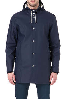 STUTTERHEIM Mid-length navy raincoat
