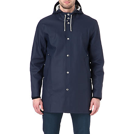 STUTTERHEIM Mid-length navy raincoat (Navy