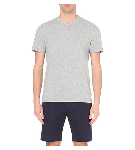 JAMES PERSE Crew-neck cotton t-shirt (Heather+grey