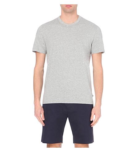 JAMES PERSE Crew-neck cotton t-shirt (Heather+grey