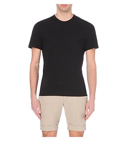 JAMES PERSE Crew-neck cotton-jersey t-shirt (Black+blk