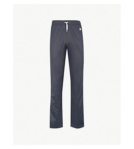 AMI Side-striped sports-jersey jogging bottoms (Navy