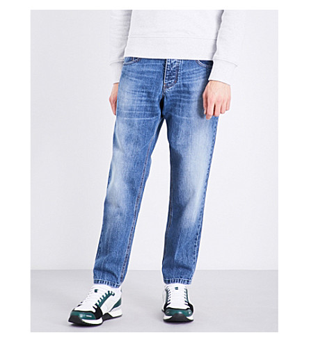 AMI ALEXANDRE MATTIUSSI Regular-fit tapered jeans (Blue