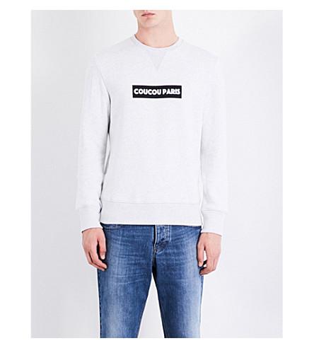AMI ALEXANDRE MATTIUSSI Coucou Paris cotton sweatshirt (Grey