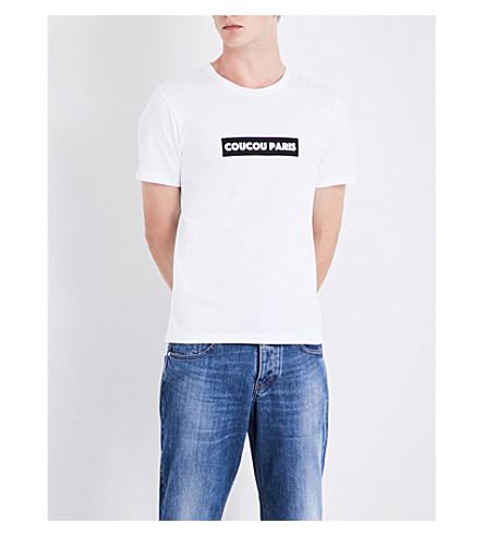 AMI ALEXANDRE MATTIUSSI Coucou Paris cotton-jersey T-shirt (White