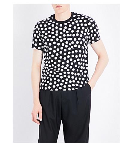 AMI ALEXANDRE MATTIUSSI Polka dot cotton-jersey T-shirt (Black
