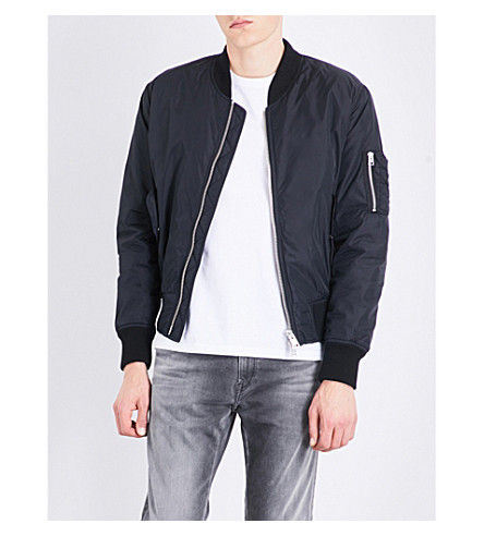 AMI ALEXANDRE MATTIUSSI Zip-pocket bomber jacket (Black