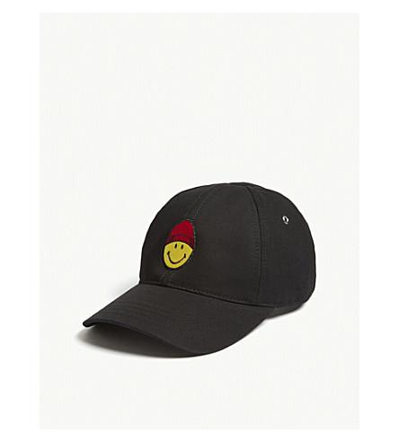 AMI Smiley cotton snapback cap (Noir
