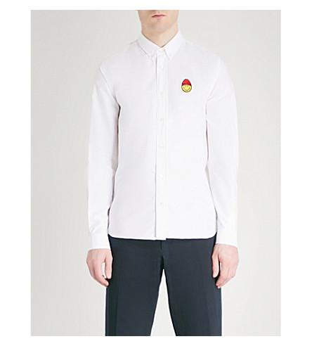 AMI ALEXANDRE MATTIUSSI Logo-print cotton oxford shirt (Blanc