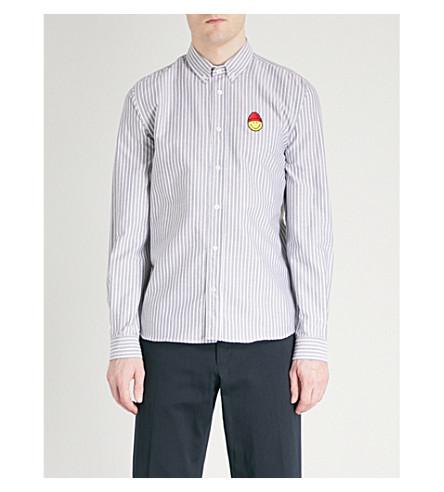 AMI ALEXANDRE MATTIUSSI Striped regular-fit cotton shirt (Noir/blanc