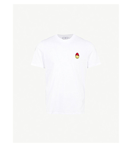 AMI Smiley cotton-jersey T-shirt (Blanc