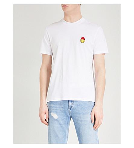 AMI ALEXANDRE MATTIUSSI Smiley cotton-jersey T-shirt (Blanc