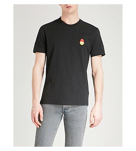 AMI ALEXANDRE MATTIUSSI Smiley cotton-jersey T-shirt (Noir