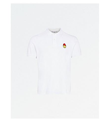AMI Smiley cotton polo shirt (Blanc