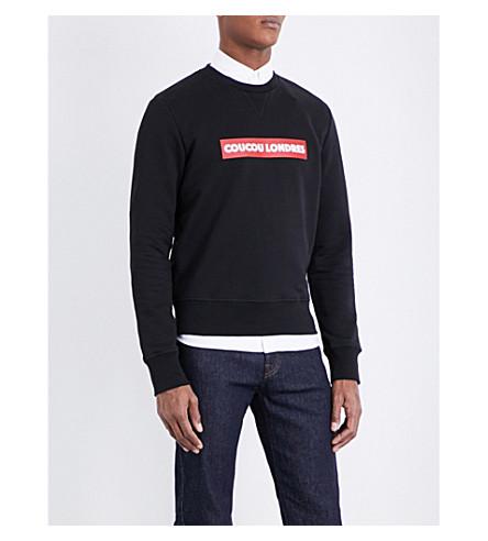 AMI ALEXANDRE MATTIUSSI Coucou Londres cotton-jersey sweatshirt (Black