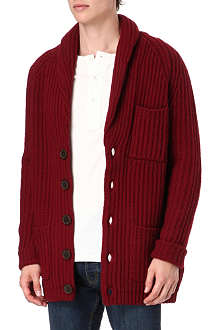 FARRELL Fisherman shawl-collar cardigan