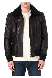 FARRELL Leather pilot jacket