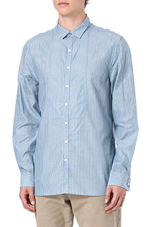 FARRELL Jim removable-collar striped shirt