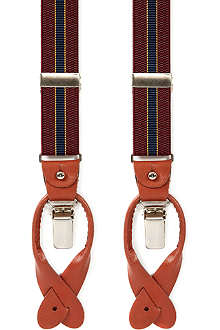FARRELL Burgundy stripe braces