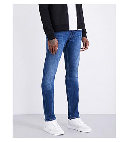 CALVIN KLEIN Slim-fit straight jeans (Washed+black