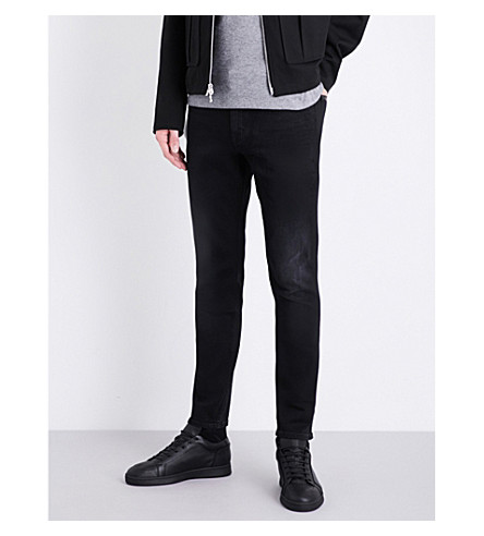 CALVIN KLEIN Skinny tapered mid-rise jeans (Blackout
