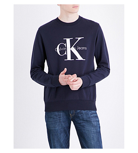 CALVIN KLEIN True Icon logo-print cotton-jersey sweatshirt (Cotton+french+terry