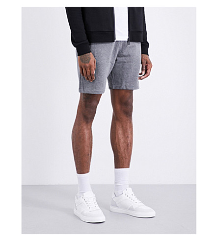 CALVIN KLEIN Haro True Icon logo-detail cotton-jersey shorts (Mid+grey+heather