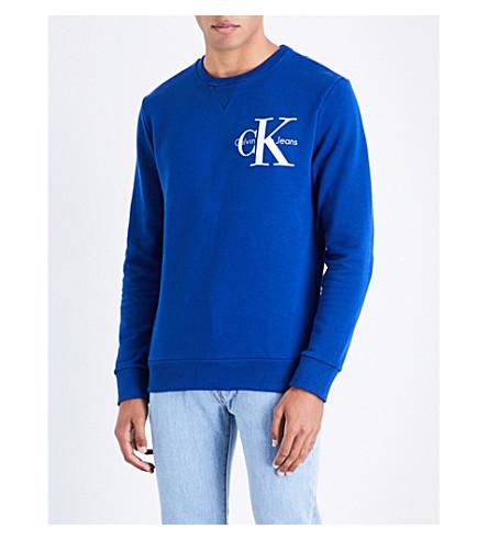 CALVIN KLEIN Haro cotton-jersey sweatshirt (Monaco+blue