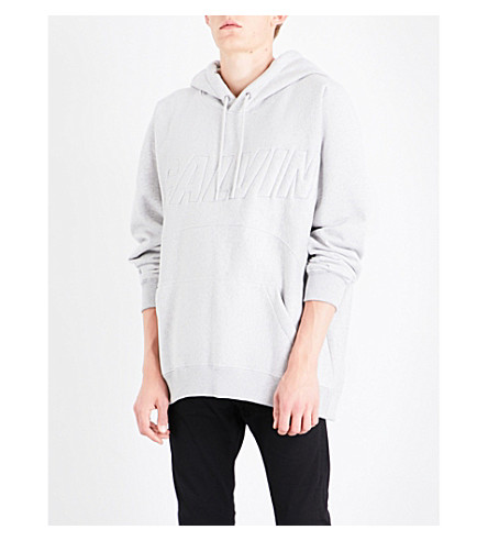 CALVIN KLEIN Harack cotton-blend hoody (Light+grey+heather