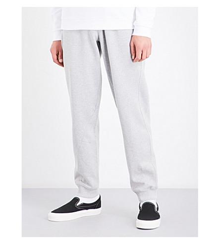 CALVIN KLEIN Hyper tapered cotton-jersey jogging bottoms (Light+grey+heather